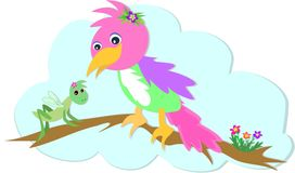 Cavalletta e pappagallo Fotografie Stock Libere da Diritti