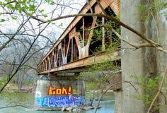 Cavalletto con i graffiti Immagine Stock Libera da Diritti