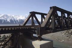 Cavalletto d'Alasca della ferrovia Fotografie Stock Libere da Diritti