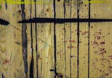 Cavalletto di legno con un bordo fotografie stock libere da diritti