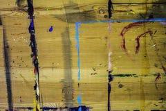 Cavalletto di legno con un bordo fotografia stock libera da diritti