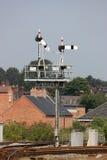 Cavalletto di segnale del semaforo alla stazione di Shrewsbury Fotografia Stock
