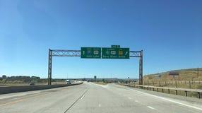 Cavalletto lungo 80 da uno stato all'altro vicino a Evenston verso Salt Lake City Immagini Stock Libere da Diritti