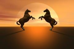 Cavalli illustrazione vettoriale