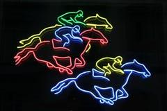 Cavalli al neon Fotografie Stock Libere da Diritti