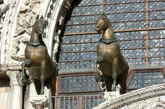 Cavalli bronze antichi Fotografia Stock