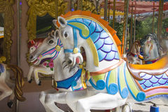 Cavalli del carosello Immagini Stock