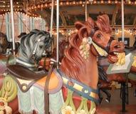Cavalli del carosello di carnevale Fotografia Stock Libera da Diritti