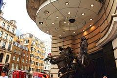 Cavalli del circo Londra Regno Unito di Piccadilly della fontana di Helios Fotografia Stock