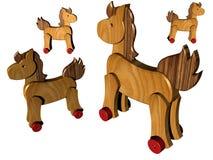 Cavalli di legno Fotografie Stock Libere da Diritti