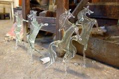 Cavalli di vetro Immagini Stock