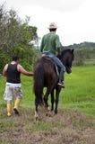 Cavalli e cavalieri Fotografia Stock Libera da Diritti