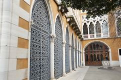 Cavalli Franchetti garden in Venice stock image