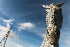 Cavalli vapore - i Kelpies - scultura gigante del cavallo Fotografia Stock