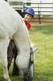 Cavallo affamato Fotografia Stock Libera da Diritti