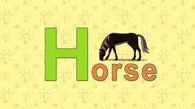 Cavallo Alfabeto inglese dello ZOO - lettera H illustrazione vettoriale