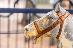 Cavallo antico del carosello Fotografie Stock