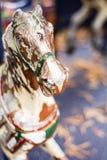Cavallo antico del carosello Fotografia Stock Libera da Diritti