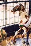 Cavallo antico del carosello Fotografia Stock