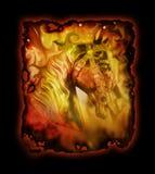 Cavallo artistico del carosello Fotografie Stock