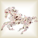 Cavallo astratto Fotografia Stock