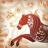 Cavallo astratto floreale Fotografia Stock Libera da Diritti