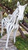 cavallo bianco dell'osso di arte della scultura Immagine Stock