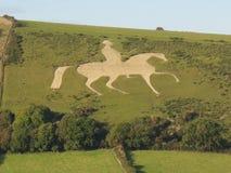 Cavallo bianco di Osmington Fotografia Stock