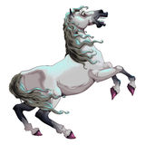 Cavallo bianco ombroso Immagine Stock