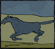 Cavallo blu Fotografia Stock Libera da Diritti