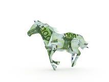 Cavallo che simbolizza l'potenza di soldi Immagini Stock Libere da Diritti