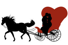 Cavallo con il carrello illustrazione vettoriale