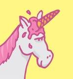 Cavallo con il gelato sulla sua testa Fotografia Stock