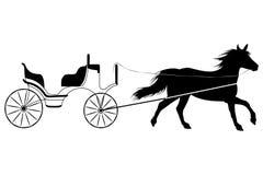 Cavallo con il retro trasporto Fotografie Stock Libere da Diritti