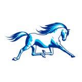 Cavallo corrente illustrazione vettoriale
