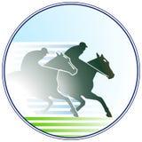 Cavallo-corsa del segno Immagini Stock