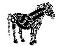 Cavallo dalle lettere Fotografia Stock Libera da Diritti