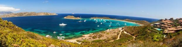 Cavallo de coda de capo de paysage de mer de la Sardaigne Photos stock