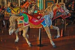 Cavallo del carosello di Palimino Fotografia Stock