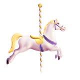 Cavallo del carosello realistico Immagini Stock Libere da Diritti
