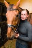 Cavallo del freno Fotografie Stock