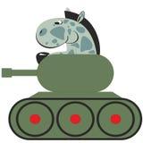 Cavallo del fumetto in carro armato 011 Immagini Stock Libere da Diritti