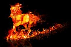 Cavallo del fuoco illustrazione di stock