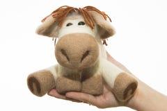 Cavallo del giocattolo in un regalo Immagine Stock Libera da Diritti