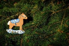 Cavallo del pan di zenzero Immagini Stock Libere da Diritti