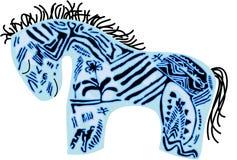 Cavallo dell'azzurro di vettore Fotografia Stock Libera da Diritti