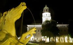 Cavallo della fontana della residenza a Salisburgo immagine stock libera da diritti
