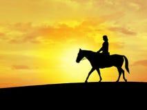 Cavallo della gente Immagine Stock