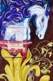 Cavallo di arte della via Fotografia Stock