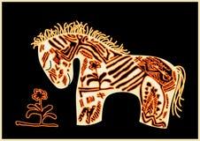 Cavallo di colore rosso di vettore illustrazione vettoriale
